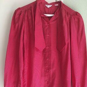Red button down shirt
